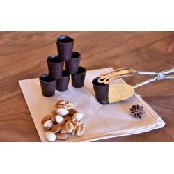 Bicchierini di Cioccolato Fondente 50 pezzi - 400 gr - Dolci Aveja