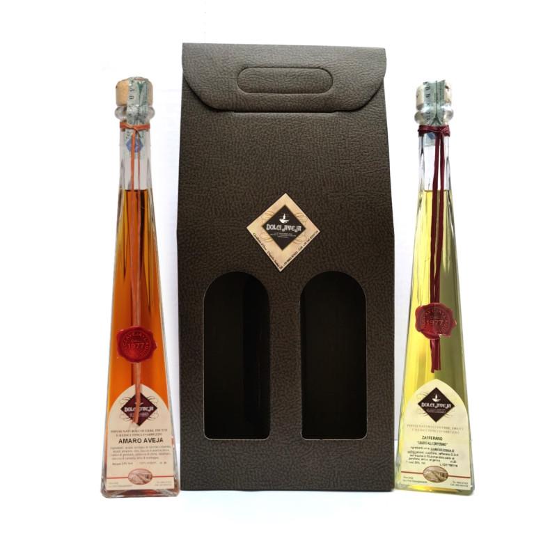 Conf. Regalo, 2x200ml: Amaro Aveja e Liquore allo Zafferano - Dolci Aveja