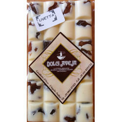White Chocolate Bar with Raisins - 90 gr - Dolci Aveja