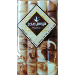 Fantasy Chocolate Bar with Withe and Dark Chocolate - 90...