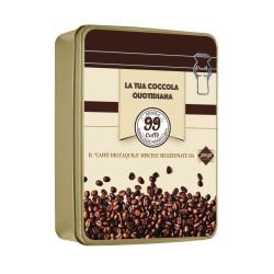 """Scatola regalo metallica """"99 Caffè"""" - Dolci Aveja"""