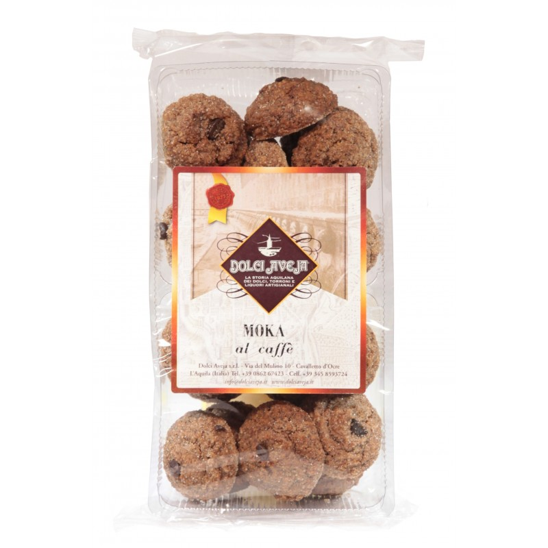 Dolci Aveja - biscuits et café Moka Noisettes 350 gr