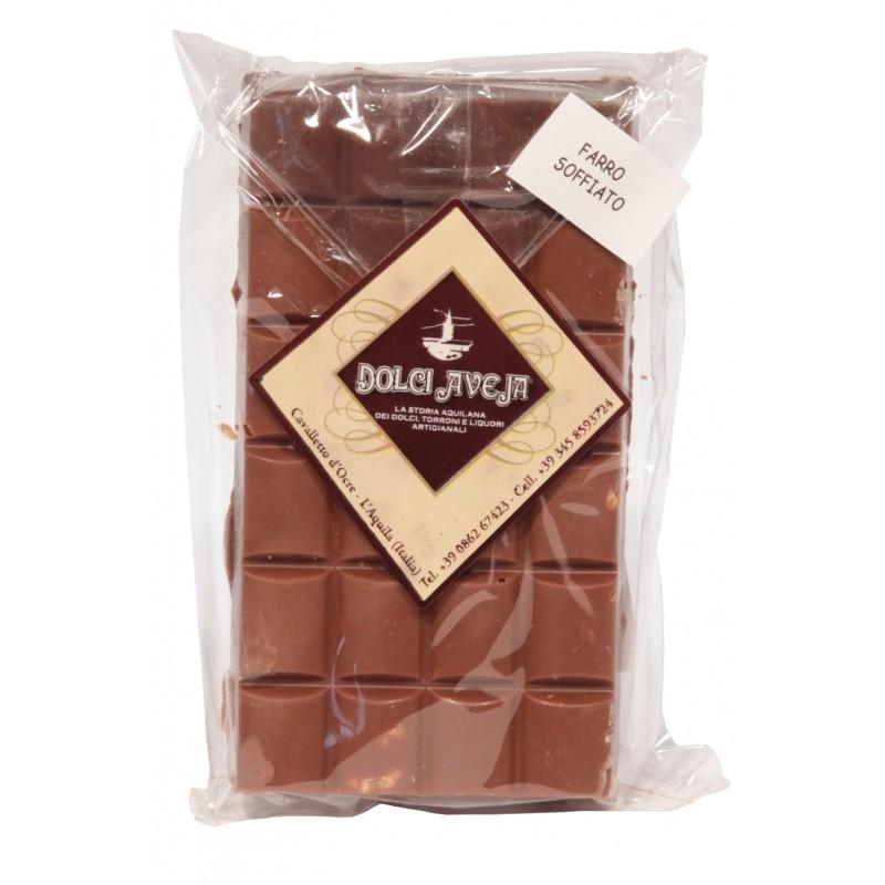 Dolci Aveja - Tablette de chocolat au lait avec 90 gr épeautre Blown